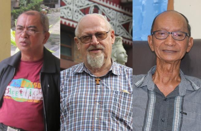 dari kiri-kanan: RP. Mardan Ginting OFM Conv, RP. Leo Joosten OFM Cap, RP. Damian O.Carm
