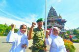 Biarawati dan Personil Militer dalam Upacara Dirgahayu Indonesia di Graha Maria Annai Velangkanni (Copyright: Jefrry Siallagan)