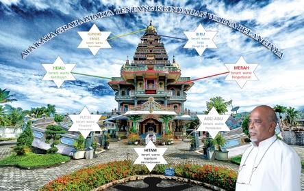 penjelasan warna di gedung graha maria annai velangkanni (Copyirght: Graha Maria Annai Velangkanni)