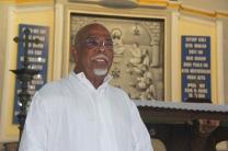 RP James Bharataputra diabadikan di dalam Graha Maria Annai Velangkanni (Copyright: Komsos KAM)