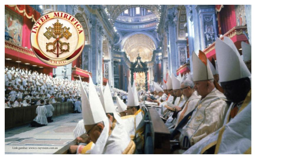 dokumen Inter Mirifica lahir dari Konvisi Vatikan II