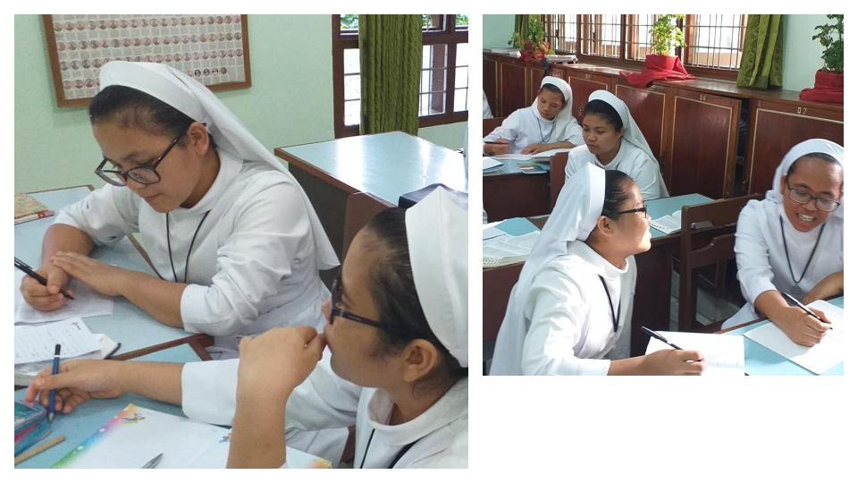 Kelas Literasi yang telah diadakan di Novisiat KSSY Medan