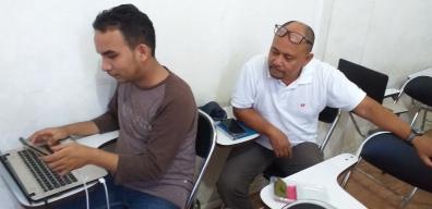Sesi praktik training jurnalistik media online (3)
