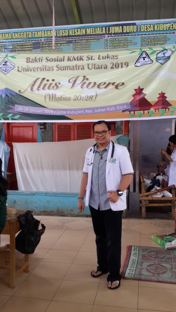 dokter Sahat di acara KMK St Lukas